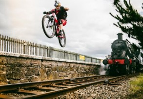 Danny MacAskill Gap to railway track