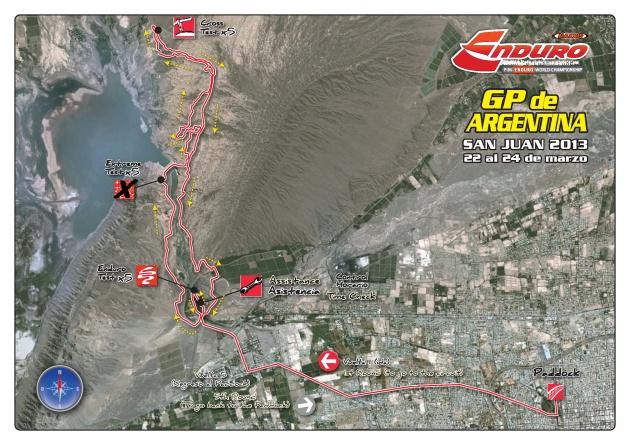 El mapa del recorrido