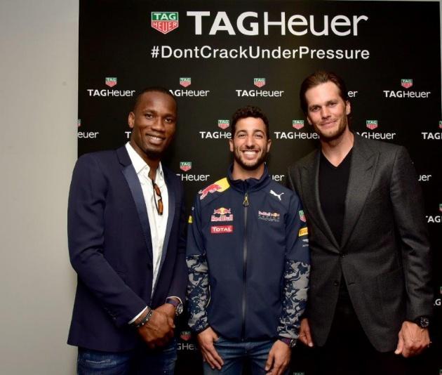 Drogba, Ricciardo y Brady, tres estrellas ligadas a TAG Heuer.